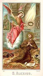 Retrato de San Alejo mendigo