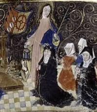 Retrato de Santa Gúdula